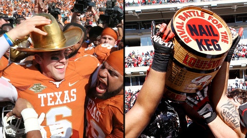 College Football Rivalry Trophies