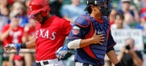 Rangers rookie puts the squeeze on the Twins