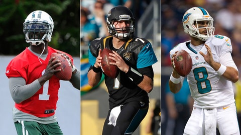 Jets' Michael Vick, Jags' Chad Henne, Dolphins' Matt Moore, $4 million
