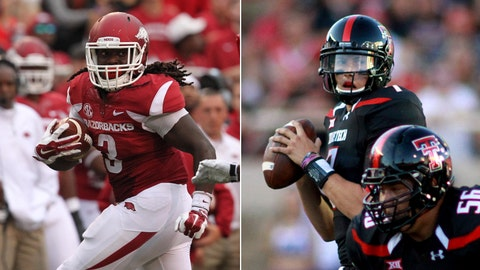 Arkansas at Texas Tech, Saturday, 3:30 p.m. ET, ABC