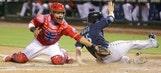 Rangers' slide hits eight in rain delay game