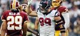 Watt earns paycheck, carries Texans past Redskins
