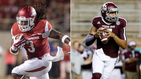 Arkansas vs. No. 6 Texas A&M, Saturday, 3:30 p.m. CBS