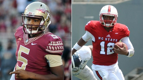 No. 1 Florida State at NC State, Saturday, 3:30 p.m. ABC/ESPN2