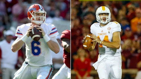 Florida at Tennessee, Saturday, 12 p.m. ET, SEC Network