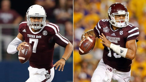 No. 6 Texas A&M at No. 12 Mississippi State, Saturday, 12 p.m. ET, ESPN