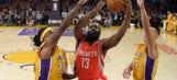 Rockets rout Lakers 108-90 in Kobe's return