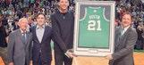 Celtics honor Baylor's Isaiah Austin prior to game