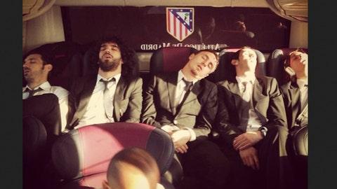 Members of Club Atlético de Madrid