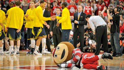 Ohio State Buckeyes mascot Brutus Buckeye