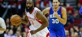 Harden's late shot lifts Rockets past 76ers