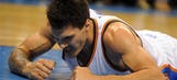 Thunder's Steven Adams struggles serving condiments at fast food joint