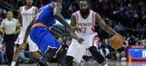 Harden leads depleted Rockets over Knicks