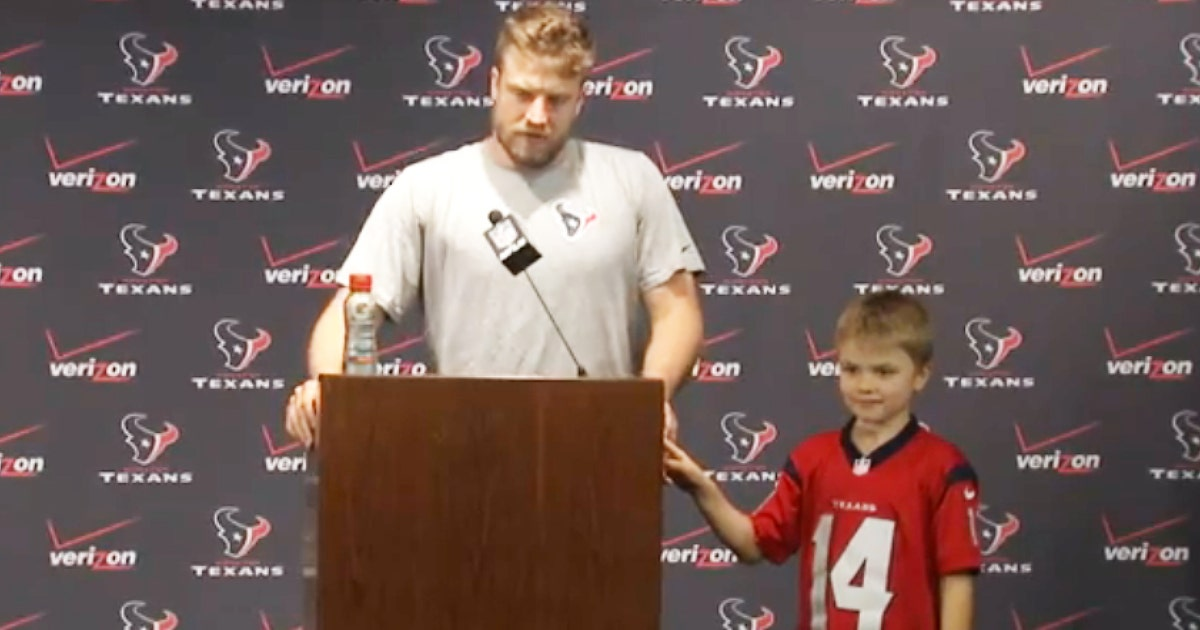 Fitzpatrick S Son Steals Show At News Conference Flashes