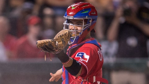 On the fifth day of Christmas the Rangers need: Robinson Chirinos to stay concussion free.