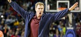 Will Ferrell crashes Pelicans-Lakers, beans dancer with basketball