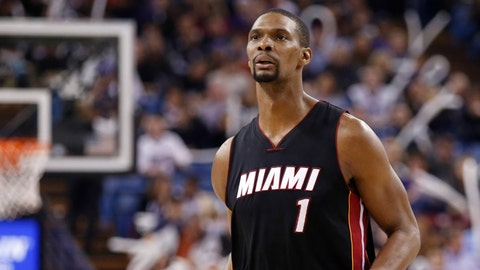 Chris Bosh, Miami Heat. Salary: $20,644,400