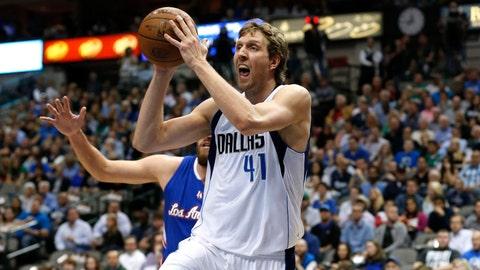 Dirk Nowitzki, Dallas Mavericks. Age: 36