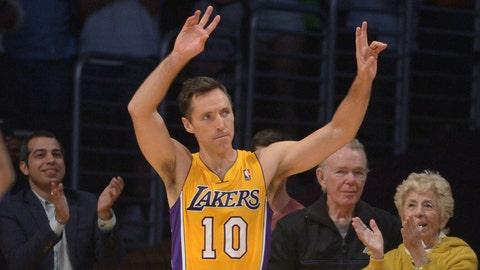 Steve Nash, Los Angeles Lakers. Age: 41