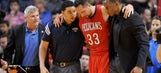 Pelicans' Davis, Anderson go down with injuries vs. Heat