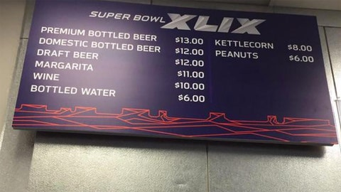 Concession Stand Prices