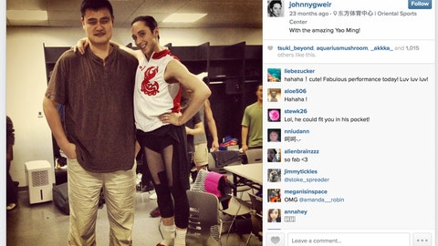 Yao Ming vs. Johnny Weir