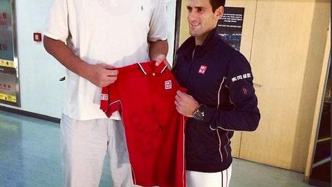 Yao Ming vs. Novak Djokovic