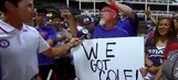 Jim Knox Has Fun With Texas Rangers Fans After Beating the New York Yankees