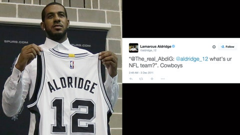 LaMarcus Aldridge Dallas Cowboys Twitter