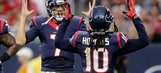 Hoyer throws TD pass, helps Texans beat 49ers