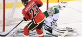 Stars let big lead slip away in loss to Flames