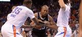 Thunder beat short-handed Spurs