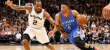 Thunder hang on in Game 2 to even series against Spurs