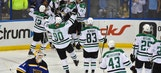 Stars bounce back with Game 4 overtime win to even series