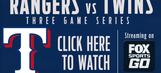 WATCH: Rangers at Twins today on FOX Sports Go!