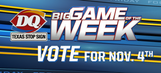 VOTE for the Nov. 4 DQ Big Game of the Week