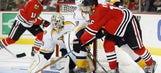 Predators fall to Blackhawks in OT
