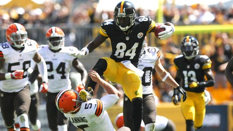 Antonio Brown will notch three straight 100-catch seasons