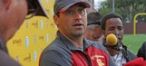 USC coach Steve Sarkisian pleased with younger players at first day of camp