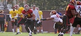 Physical practice for Trojans perhaps provides glimpse into the future