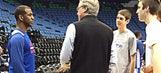 Chris Paul hosts ill son of Iowa hoops coach McCaffery