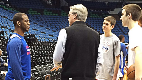 Chris Paul hosts McCaffery family in Minnesota