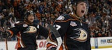 Ducks beat Sharks to claim Pacific Division title