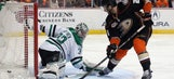 Ducks avoid late collapse against Stars to take Game 1