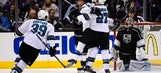 Kings pushed to brink of elimination after Game 3 loss to Sharks