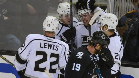 First round, Game 7: Kings 5, Sharks 1