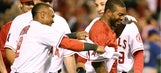 Howie Kendrick walks off vs. Rangers…again