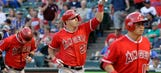 Trout, Angels start fast in 15-6 romp at Texas