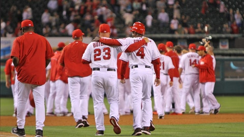 Gallery: Angels outlast Rangers in 16 innings