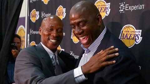 5. Magic Johnson and Byron Scott, Los Angeles Lakers, 1989